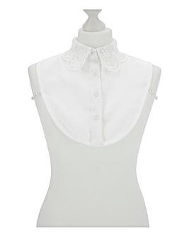 White Frill Shirt Collar