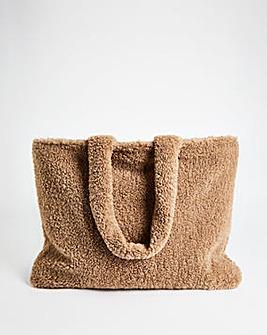 Oversized Reversible Shearling Fur Bag