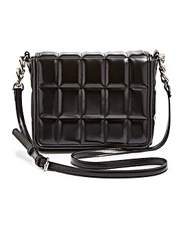 Square Quilted Chain Detail Bag