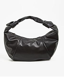 Large Black Croissant Shoulder Bag