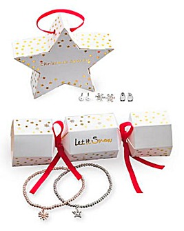 Christmas Star Bauble and Cracker Set