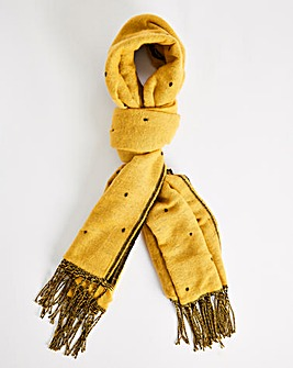 Black And Gold Spot Oversized Scarf