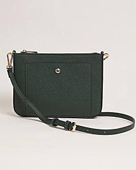 Flat Crossbody Bag With Detatchable Strap