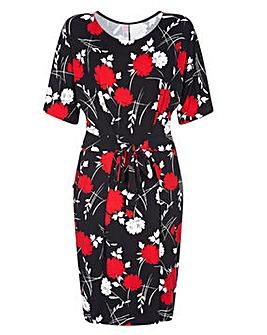 Yumi Curves Kimono Sleeve Jersey Dress