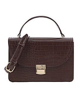 Cross Body Boxy Bag with Top Handle