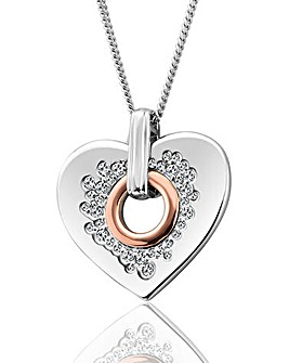 Clogau Cariad Sparkle Heart Pendant