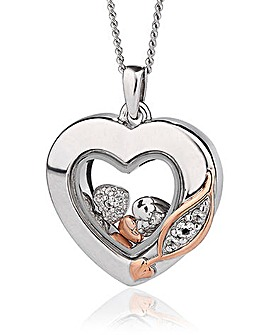 Clogau Past Present Future Heart Pendant
