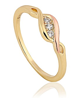 Clogau Past Present Future Diamond Ring