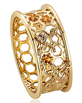 Clogau Honey Bee Honeycomb Ring