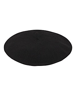 Black Soft Beret Hat