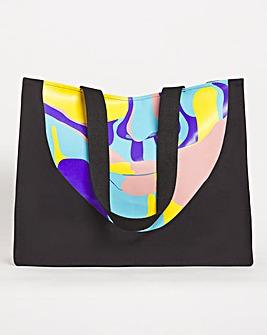 Large Printed Abstract Tote Bag