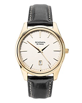 Sekonda Mens Classic Leather Strap Watch