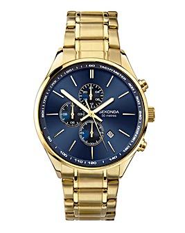 Sekonda Men's Gold Plated Dual Time Bracelet Watch