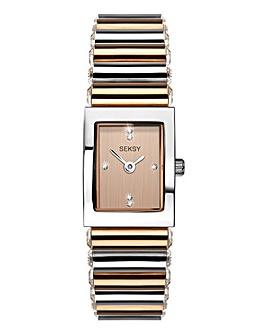 Seksy Edge Rose Gold Palted Watch