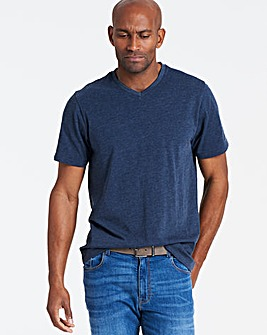 Denim V-Neck T-shirt