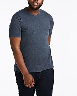 Denim V-Neck T-shirt Long