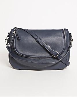 Soft Shoulder Bag with Zip Pockets