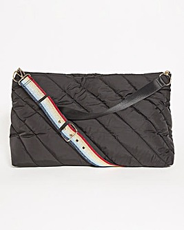 Quilted Tote Bag With Detachable Strap