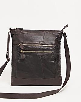 Leather Patchwork Crossbody Bag