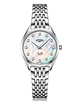 Rotary Ladies Bracelet Watch With Mother of Peral Dial And Diamond Markers.