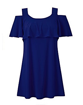 Grace cold shoulder frill tunic