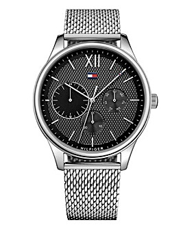 Tommy Hilfiger Mens Damon Stainless Steel Mesh Strap Watch