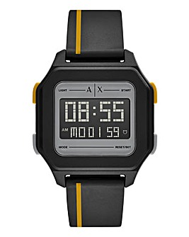 Armani Exchange Mens Digital Multicolor Polyurethane Watch