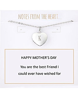 Mother's Day Heart Pendant With Personalised Initial