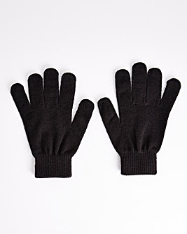 Classic Magic Knitted Black Gloves