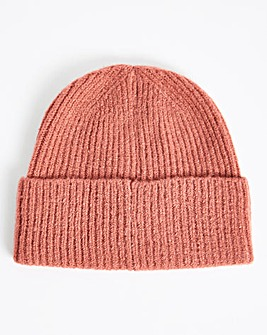 Pink Knitted Beanie Hat