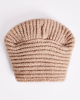 Oatmeal Knitted Turban Style Hat