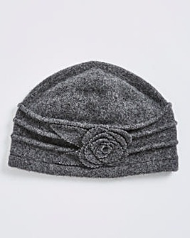Wool Felt Hat With Floral Detail