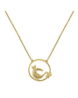 Sara Miller Ladies 'Piccadilly' Plated 18ct Gold Toucan Pendant Necklace
