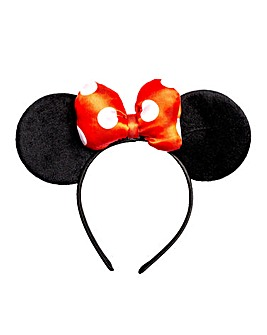 Disney Minnie Mouse Headband with Iconic Bow Feature.