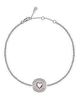 Radley Love Heart Ladies Sterling Silver Bracelet