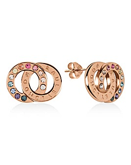 Radley Signature Ladies 18ct Rose Gold Plated Sterling Silver Earrings