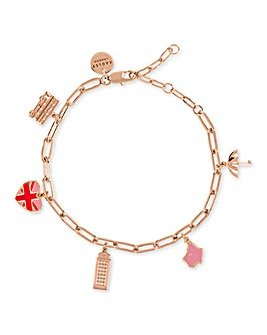 Radley Love Letters Ladies 18ct Rose Gold Plated Bracelet