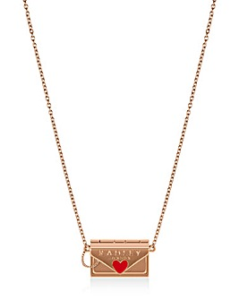 Radley Love Letters Ladies 18ct Rose Gold Necklace