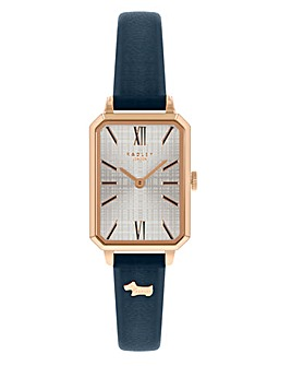 Radley Branded Ladies Navy Leather Strap Watch