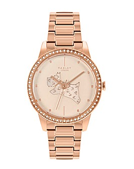 Radley Branded Ladies Rose Gold Brass Bracelet Watch