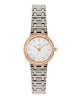 Radley Branded Ladies Two tone Brass Bracelet Watch