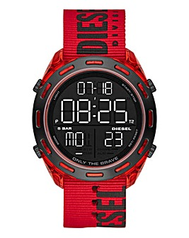 Diesel Black And Red Crusher Watch