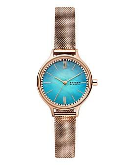 Skagen Rose Gold Stainless Steel Watch