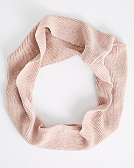 Soft Knitted Dusky Pink Snood