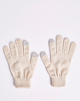 Classic Magic Knitted Cream Gloves