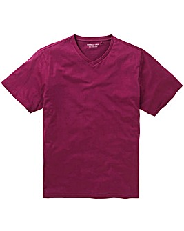 Magenta V-Neck T-shirt Long