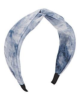 Blue Tie Dye Knotted Headband