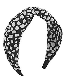 Mono Print Knotted Headband