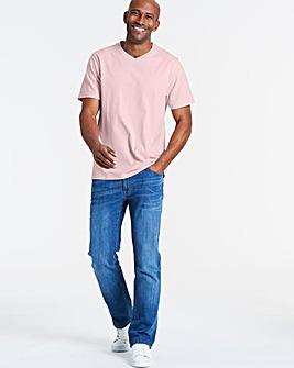Baby Pink V-Neck T-shirt