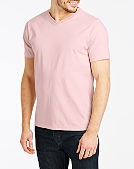 Baby Pink V-Neck T-shirt Long